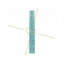 Swarovski Crystal Mesh 2-rows Erinite Shimmer 360
