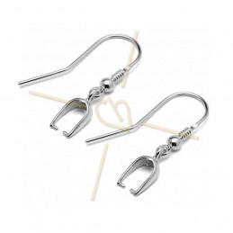 Earhooks Silver .925 with pendant holder