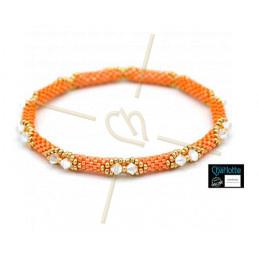 Kit Bangle armband Orange Luster