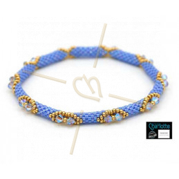 Bangle Bracelet Light Sapphire Ab