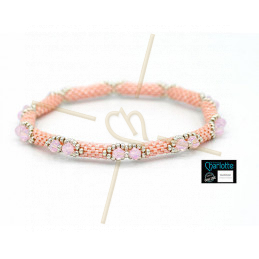 Kit Bangle Bracelet LumiPastel Pink Luster