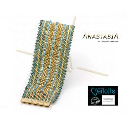 Kit armband Anastasia Groen Goud