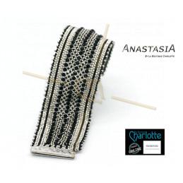 Kit armband Anastasia Zwart Zilver