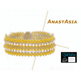 Kit armband Anastasia Geel okker