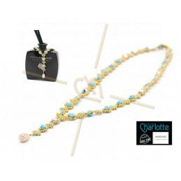 kit Necklace Julia Turqoise Gold