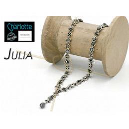 Kit Halsketting Julia Zwart Zilver