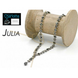 kit Necklace Julia Black Silver