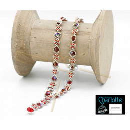 kit Necklace Julia Red Silver