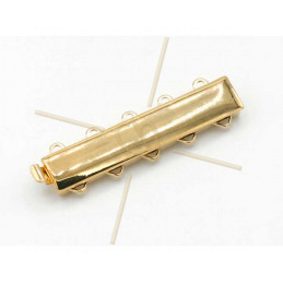 Clasp slider 5-row Gold Plated