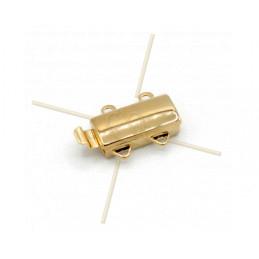 schuifslot 5-rijen Gold Plated