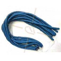 Heishi rondellen 6mm Marineblauw String 40 cm.