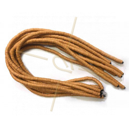 Heishi Rings 6mm Brown String 40cm.