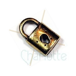 "pendentif ""lock"" 10mm"