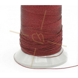 Thread Poly Metallic 0.8mm Bordeaux Metallic