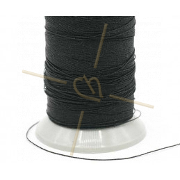 Thread Poly Metallic 0.8mm Black Metallic
