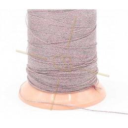 Thread Poly Metallic 0.8mm Pink Silver Metallic