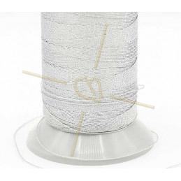 Thread Poly Metallic 0.8mm silver Metallic