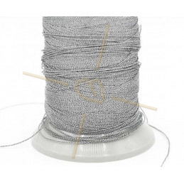 Thread Poly Metallic 0.8mm Steel Metallic