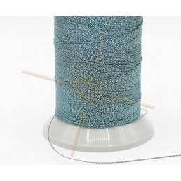 Thread Poly Metallic 0.8mm Petrol Metallic