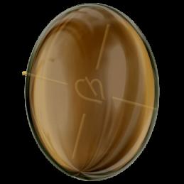 Cabochon Swarovski oval 30*22.7mm Satin Tabac