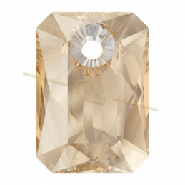 Pendant Swarovski 6435 9mm Golden Shadow