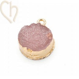 Pendant resin 19*15mm Antique Pink Gold