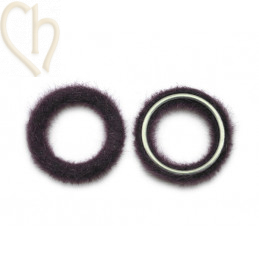 2 x Pendant round synth. fur 26mm Cassis