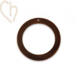 hanger velours rond 30mm bruin
