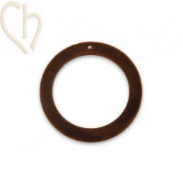 pendant velvet round 30mm Brown