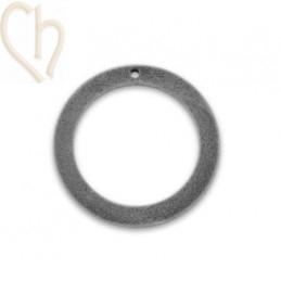 Pendant velvet round 30mm Licht Grey