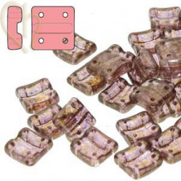 Fixer Bead Horizontal holes Crystal Senegal Brown Purple