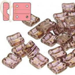 Fixer bead Verticale gaatjes Crystal Senegal Brown Purple