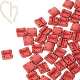 Fixer bead Verticale gaatjes Chalk Lava Red