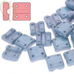 Fixer Bead Horizontal holes Chalk Blue Luster
