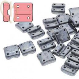 Fixer bead Verticale gaatjes Jet Hematite
