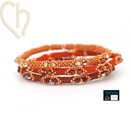 Trio Kits Bangle Bracelets 3 colors Red Passion