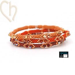 Trio Kits Bangle Bracelets 3 couleurs Red Passion