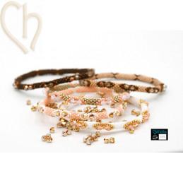 Quintet Kits Bangle Bracelets 5 couleurs Automne + Gratuit Fil Miyuki