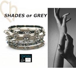 6 Kits Bangle Bracelet Shades of Grey