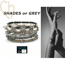 Kit Bangle Bracelet Shades of Grey