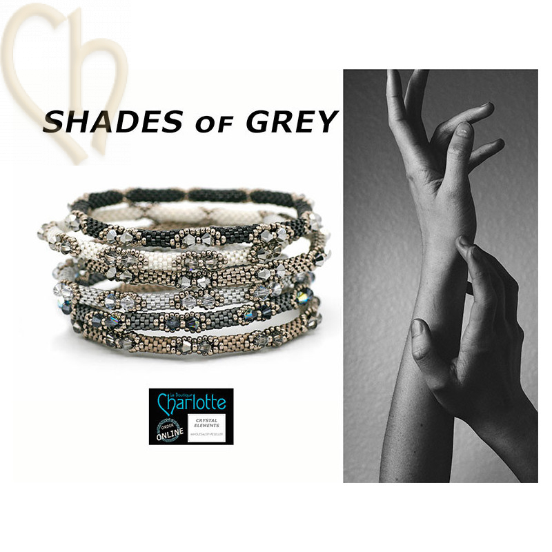 Kit Bangle Bracelet Shades of Grey
