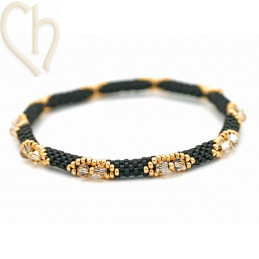 Kit Bangle Bracelet Black Gold
