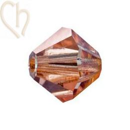 Preciosa Crystal Rondelle bead 3mm Capri Gold CaG
