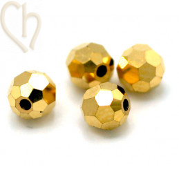 Preciosa Crystal Round bead 4mm Aurum