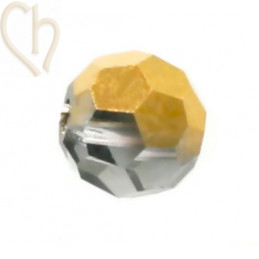 Preciosa Crystal Round bead 4mm Aurum Half