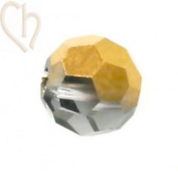 Preciosa Crystal Round Bead 4mm Aurum Half