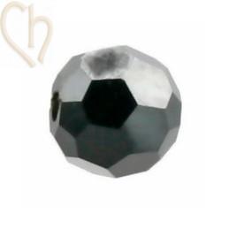 Preciosa Crystal Round Bead 4mm Hematite Half - Hem-H