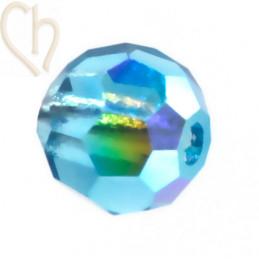 Preciosa Crystal Round Bead 4mm Indicolite AB