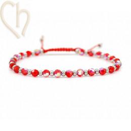 Kit bracelet steel and Crystal Swarovski Light Siam AB