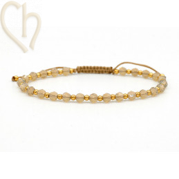 Kit bracelet steel and Crystal Swarovski Sand Opal